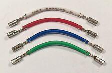 "Technics QUALITY Headshell Cartridge Wire Leads ""SOLID SOLDER"" Best Lead Wires"