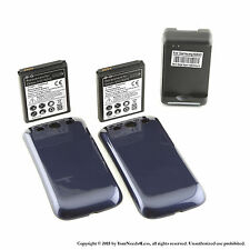 2 x 4300mAh Extended Battery for Samsung Galaxy S3 Blue Cover Dock Charger