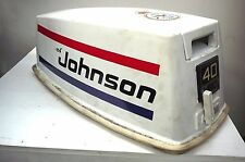 JOHNSON 40hp VRO OUTBOARD ENGINE COMPLETE HOOD - ELECTRIC START - 1986