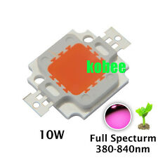 High Power LED Chip 10W Natural Cool Warm White Red Blue Green UV IR Grow Light
