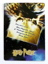 SWAP CARD. HARRY POTTER OWL WITH INVITATION TO HOGWARTS SCHOOL. WIDE. MINT