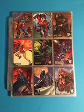 1996 AMALGAM MARVEL VS. DC COMPLETE SILVER FOIL 90 CARD BASE SET, MINT