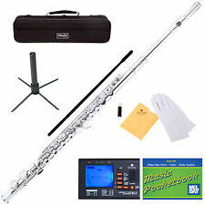 NEW NICKEL/SILVER SCHOOL BAND STUDENT C FLUTE w/Split E