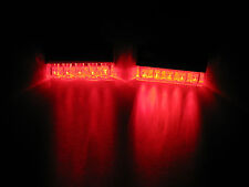 2 Universal RED LED Rear Marker Brake Tail Lights Motorcycle Street Hustler Bike
