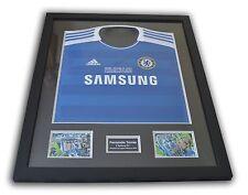 Fernando Torres Signé & Cadré finale Ligue des Champions 2012 Chelsea Chemise + coa