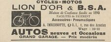 Y7627 Cycles-Motos LION D'OR & B.S.A - Pubblicità d'epoca - 1924 Old advertising