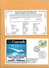 CONCORDE SST BRITISH AIRWAYS FIRST FLIGHT  LONDON COLUMBUS  SEP 10 1985 FLOWN ON