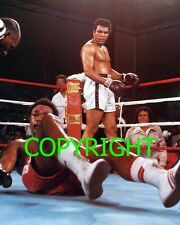 "MUHAMMAD ALI v GEORGE FOREMAN Famous ""Rumble in the Jungle"" action PHOTO 10 x 8"