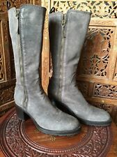 Muted Brown Italian Made Sartore Leather Boots , Size 37.5/ 7