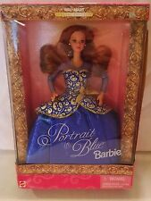 Barbie Doll 1997 Portrait in Blue Red Hair Redhead Wal Mart 19355 Sealed