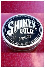 Shiner Gold Pomade 4 Oz Heavy Strong Hold Wax Gel Hair Styling Barber USA NEW