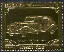 Bernera GOLD Vintage Car/Citroen Traction Avant/transport/Motoring 1v (n17216)