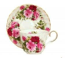 Summertime Rose Bone China Tea Cup and Saucer, Made In England