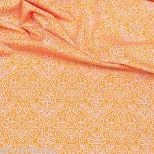 Baumwollstoffe Orange 922 Baumwolle Blumen Stoffe Meterware Patchwork EN 71-3