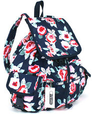 $120 LeSportsac Floral Voyager Backpack in Navy Rose Blue NWT