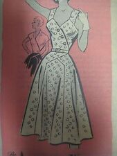 Vtg 50s Mail Order American Weekly SUNDRESS or SPENCER Sewing Pattern Women NEW