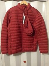 New Men's Uniqlo Ultra Light Down Jacket w/ Pouch Date Red XL