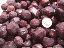 Garnet red pyrope mine rough crystals bigger 1/2-1 inch  Madagascar 1/4 pound