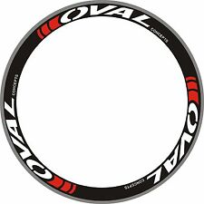 OVAL Carbon Bike/Cycling/Cycle/Push Bike Wheel Rim Decals Stickers Kit 2 rims