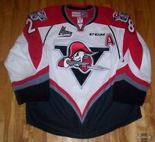 QMJHL Drummondville voltigeurs GAME WORN Hockey JERSEY #28 Aubé 2015-16  ``A``