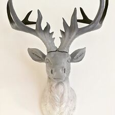 LARGE Unique decoration Stag Head Taxidermy Deer 'Gradient' - Grey