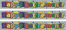 HAPPY RETIREMENT MULTI COLOUR FOIL BANNERS (PA)