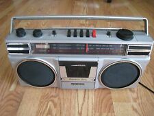 SANYO M9706 BOOMBOX AM/FM WITH CASSETTE PLAYER RECORDER