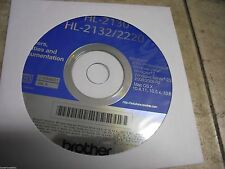 New! Genuine Brother HL2130 HL2132 HL2220 Printer CD Software Drivers Utilities