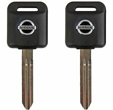2 Transponder Chip Keys Ignition Blanks for Nissan with Chip ID46