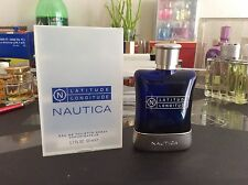 Rare New Nautica Latitude Longitude 1.7oz 50ml Men's Eau de Toilette Spray Homme