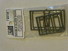 Tichy Train Group #8198 HO Double Glass Storefront Door w/Separate frame pkg(2)