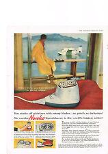 PUBLICITE ADVERTISING    1959   USA  NORELCO   rasoir éléctrique