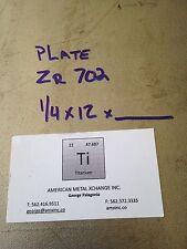 """Zirconium Plate 702  .250"""" x 12"""" x 12"""""""