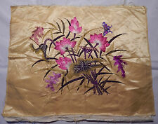 Antique Chinese Embroidery Silk Flower Wall Hanging Tapestry/Panel