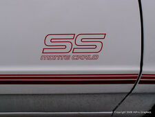 DECALS & STRIPES for MONTE CARLO SS 87-88 1987 1988 RED