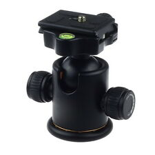 360° Rotate Panoramic Ball Head+Quick Release Plate for DSLR Camera Tripod