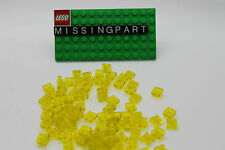 50 X LEGO Trans Yellow Plate Square 1 X 1 / 1x1 item 3024