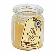 Glass Candle Votive ~ 'You are my Sunshine' Fresh Daisy Yellow Candle NV286