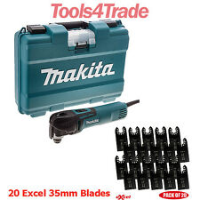Makita TM3010CK Oscillating Multi-Tool Quick Change + 20 Excel 35mm Blades 240V