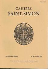 CAHIERS SAINT-SIMON - N° 18- ANNEE 1990 -
