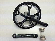 New Unbranded Alloy Bike Crankset Chainwheel Single Speed 53T 175mm Black/Silver
