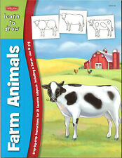 Walter Foster Learn to Draw Farm Animals  - 21 Favorite Subjects, NEW PB