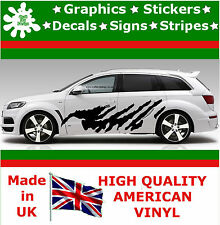 "21"" High Car Side Stripes Graphics Decal Vinyl Stickers Van Auto Rally Race F1_3"