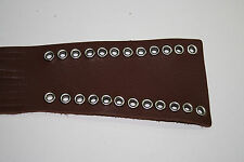"""Heavy Duty Brown Leather Motorcycle Clutch Brake Lever covers eyelets 16"""" Fringe"""