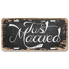 LP0462 Just Married Auto Car License Plate Wedding Decor Gift Chic Sign
