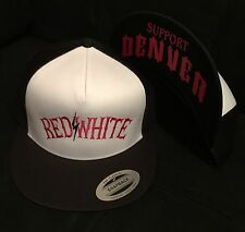 Hells Angels Denver Hat Trucker Support Red & White Baseball Cap