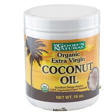 Good'N Natural Extra Virgin Coconut Oil 16 oz 100% Vegetarian FRESH Made In USA