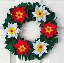 Poinsettia Christmas Wreath Felt Kit by Florashell