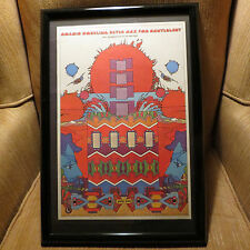 """PETER MAX VINTAGE POSTER -  """" CANTERBURY BELTS  """"  1970-   12"""" x 20 """"    FRAMED"""