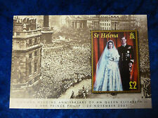 St. Helena Diamond Wedding 2007 £2 minisheet MNH